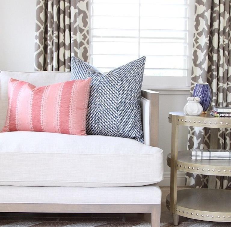 Pink Stripe Pillow Becki Owens Blog