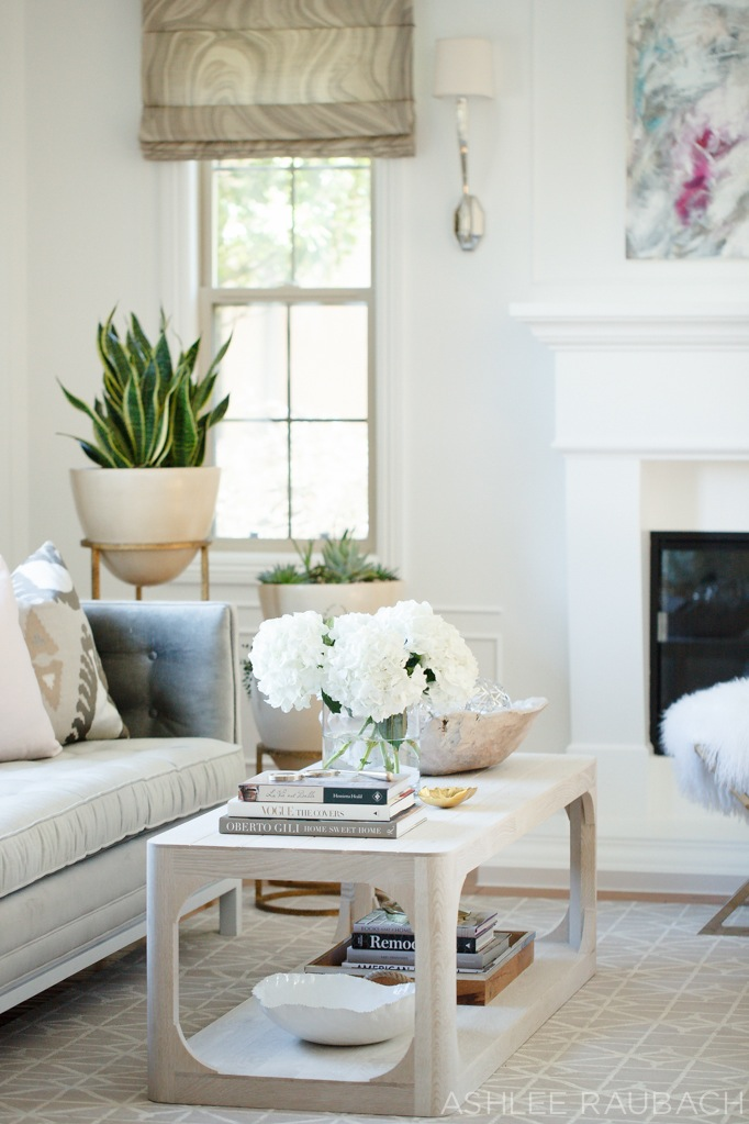 neutral modern living room - owens and davis