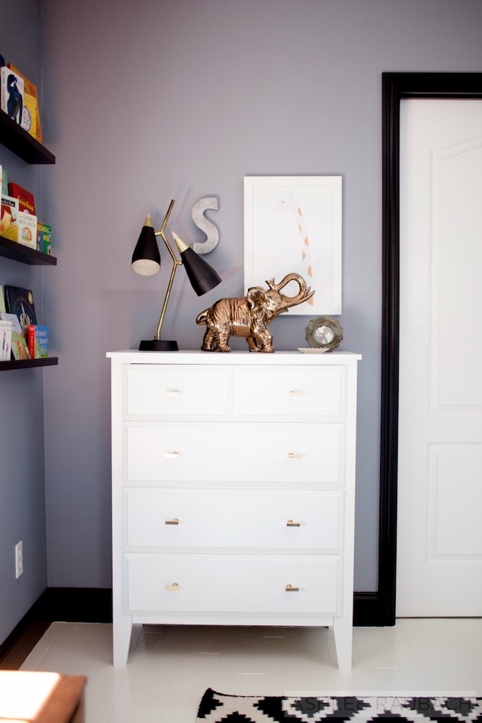 modern black and white nursery becki owens blog