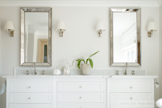white marble bathroom becki owens blog