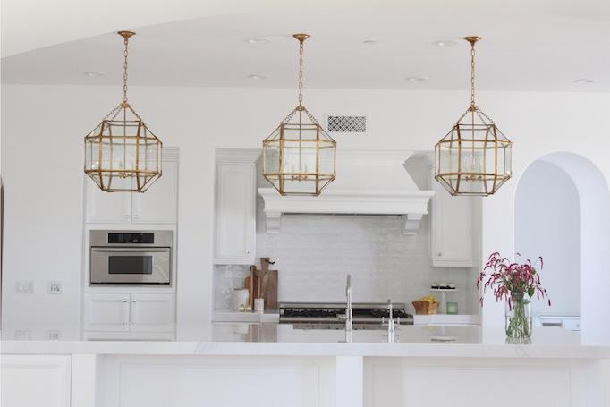 white modern kitchen remodel