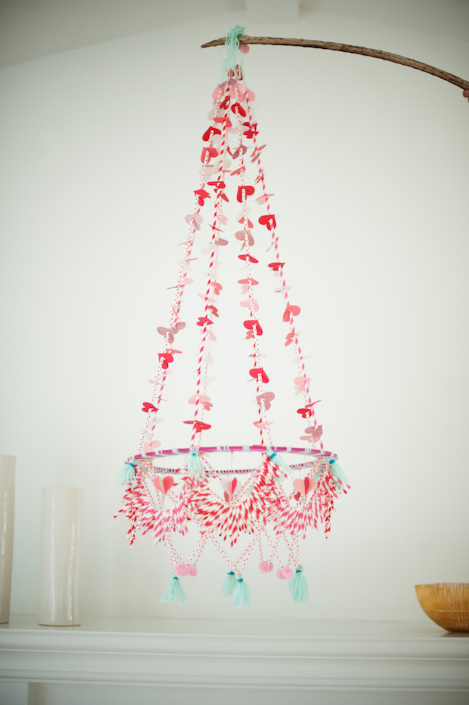 DIY Valentine's Day Polish Chandelier