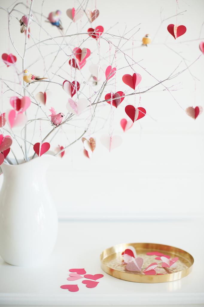 DIY Valentines Day Tree