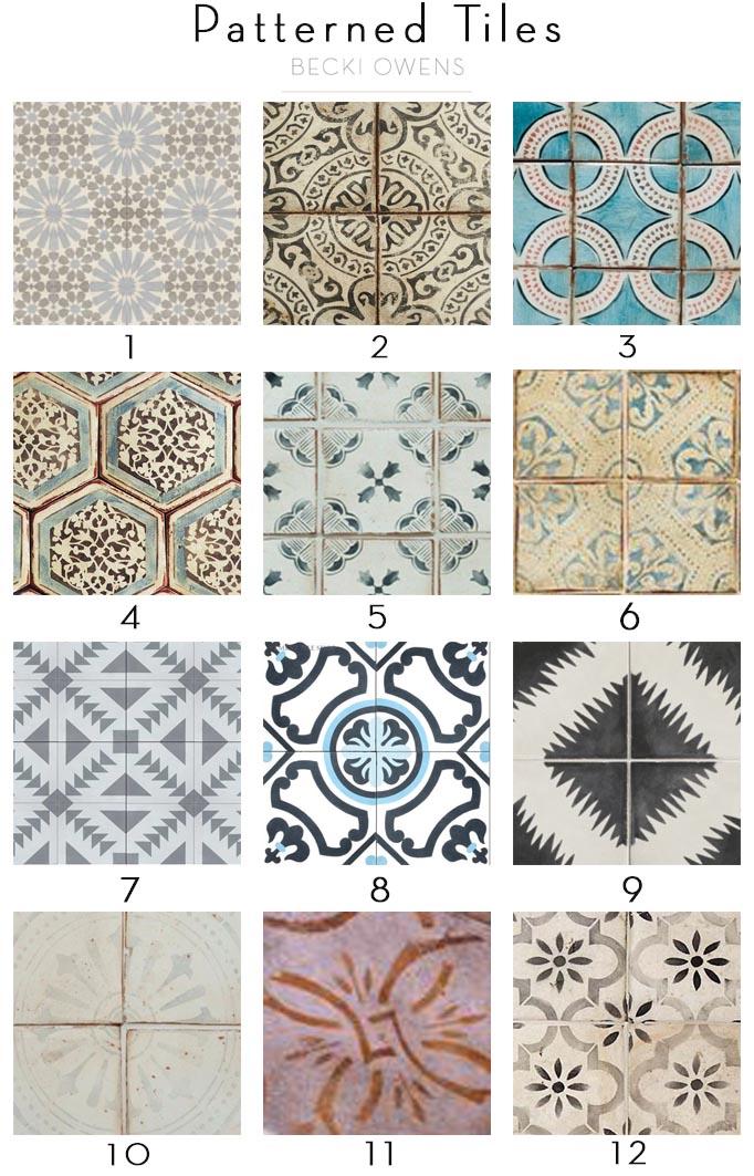 patterned tiles Becki Owens