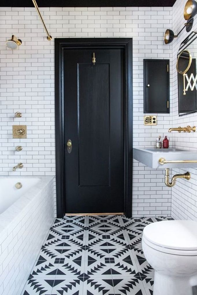 Attractive Black And White Bathrooms Becki Owens