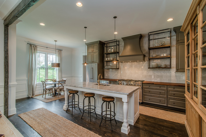 Gray Rustic And Refined Kitchen