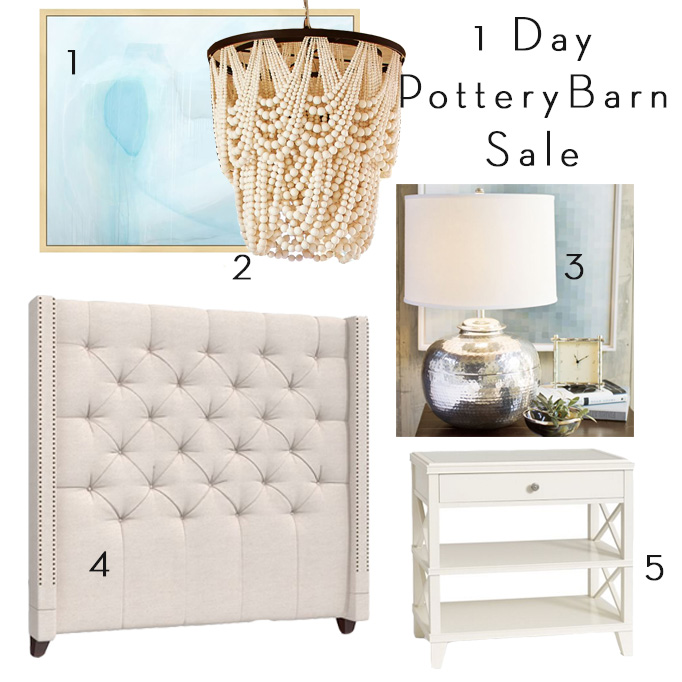 1 day pottery barn sale