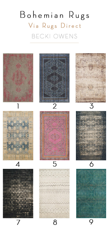 bohemian style rugs Becki Owens