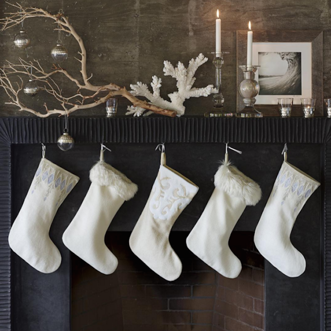 Black Fireplace White Stockings