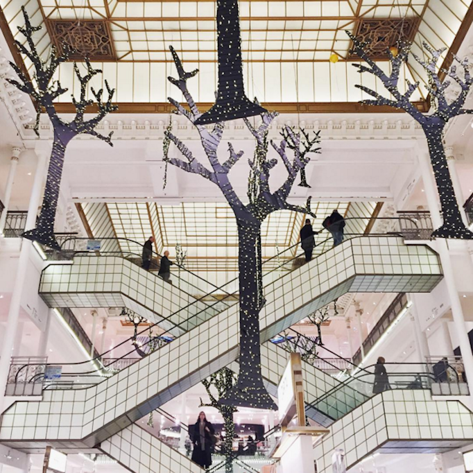 Holiday Decor at Bon Marche Paris