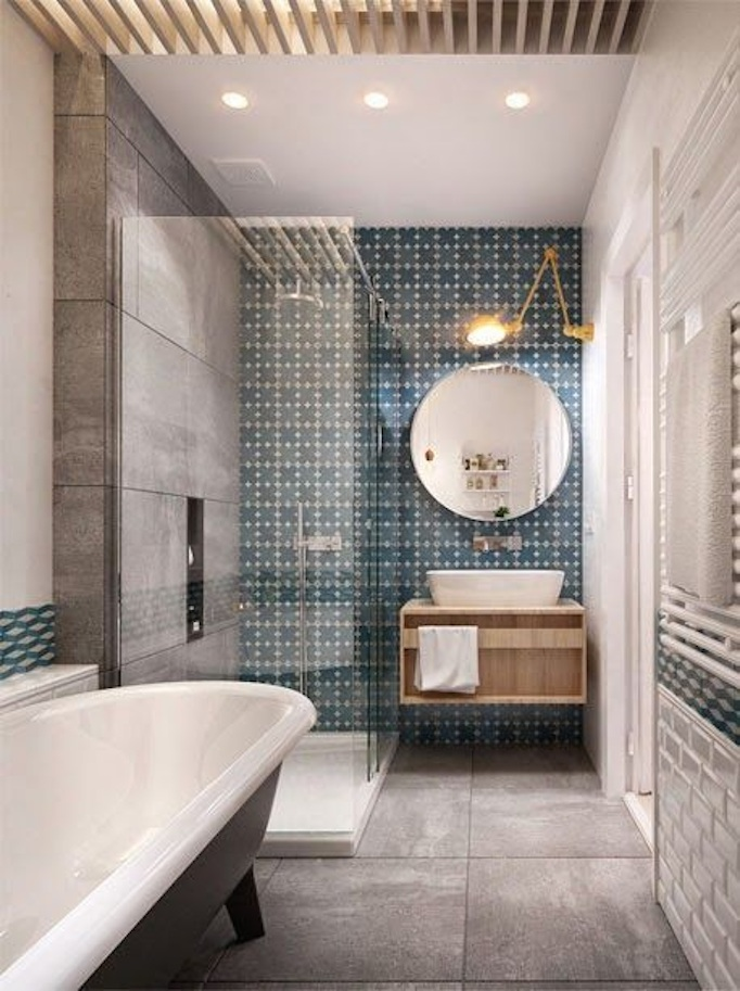 patterned tile bathroom - Beautiful Bathrooms