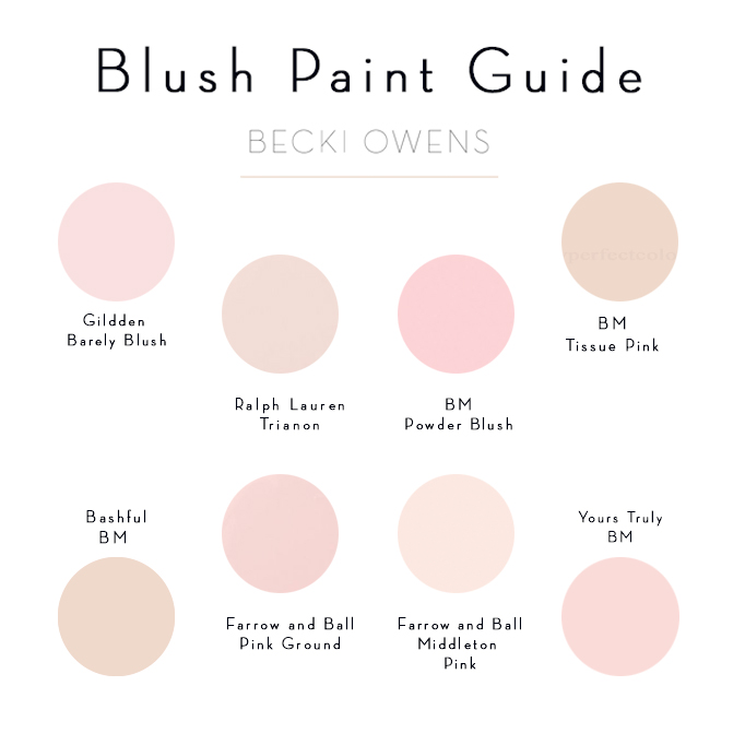 Blush Pink Paint Guide Becki Owens