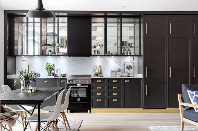 Dream Home: Dark Gray and Brass Beauty