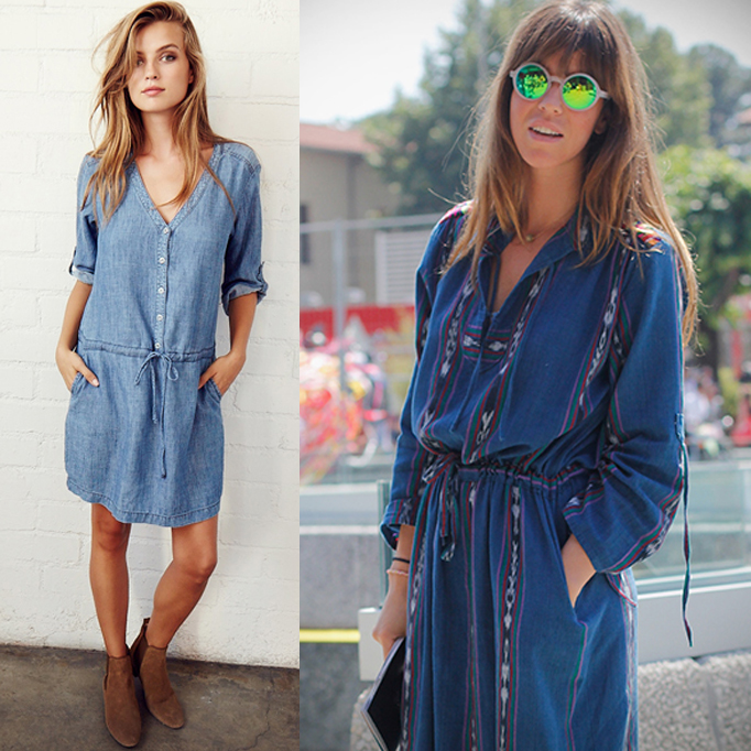 Bohemian Denim Dress