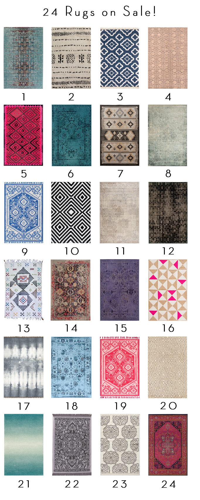 24 Rugs on Sale — New for Spring