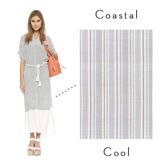 Faithful the Brand Gigi blue and white stripe dress