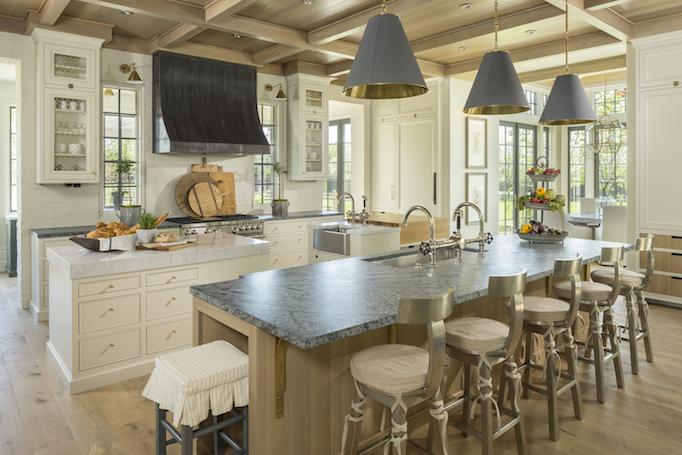 classical modern brick home kitchen