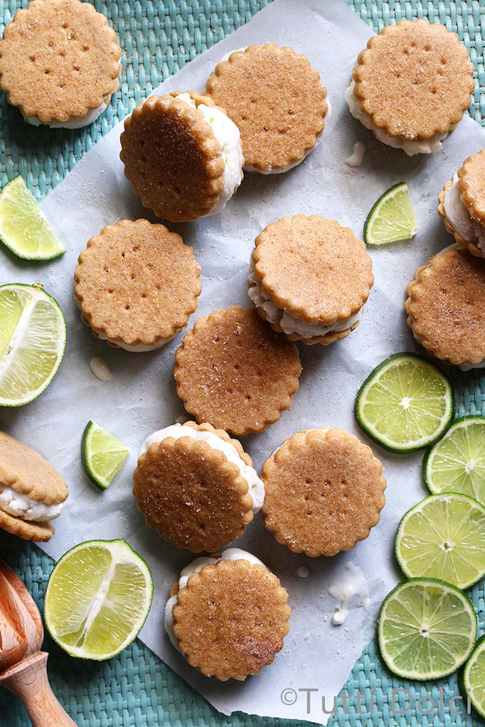 key lime ice cream sandwhiches