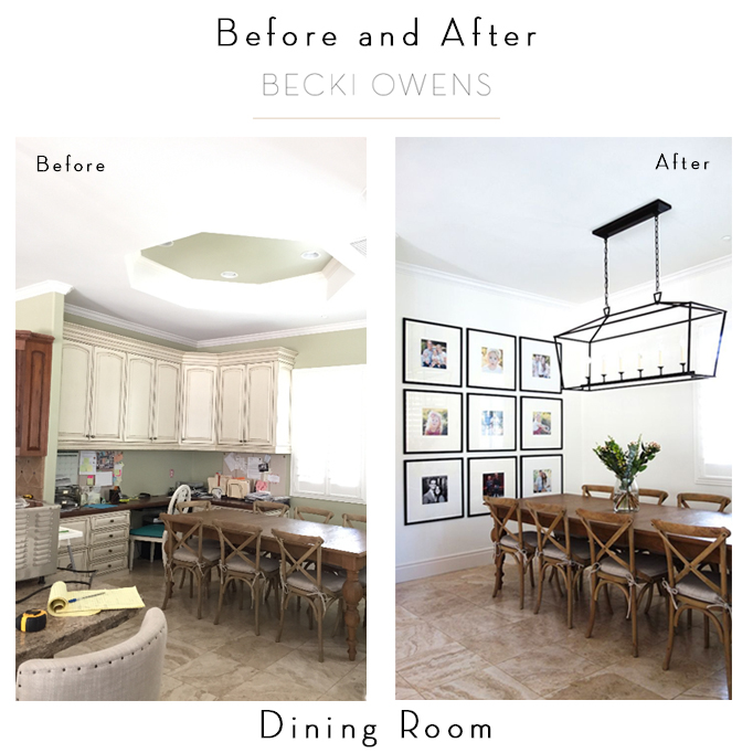 before and after dining room becki owens