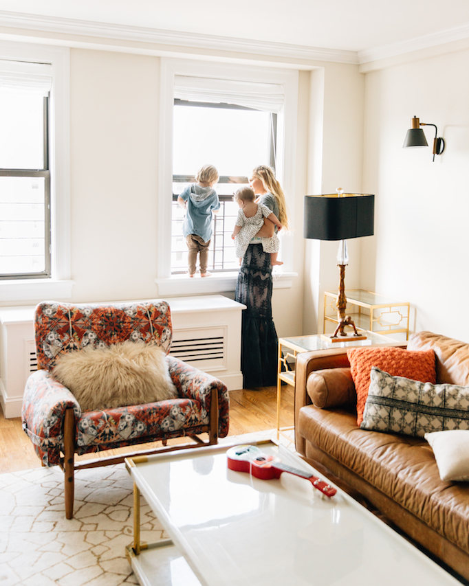 Amber Fillerup Clark NYC Living Room