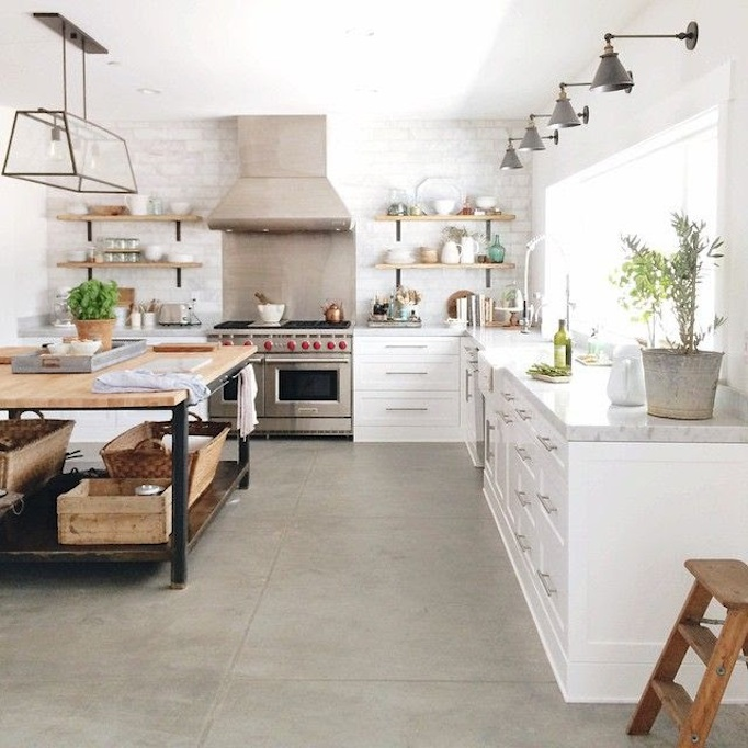 Concrete Floor Kitchen 12 Pictures