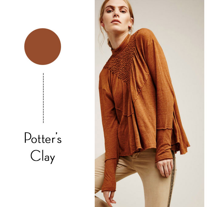 pantone color potter's clay
