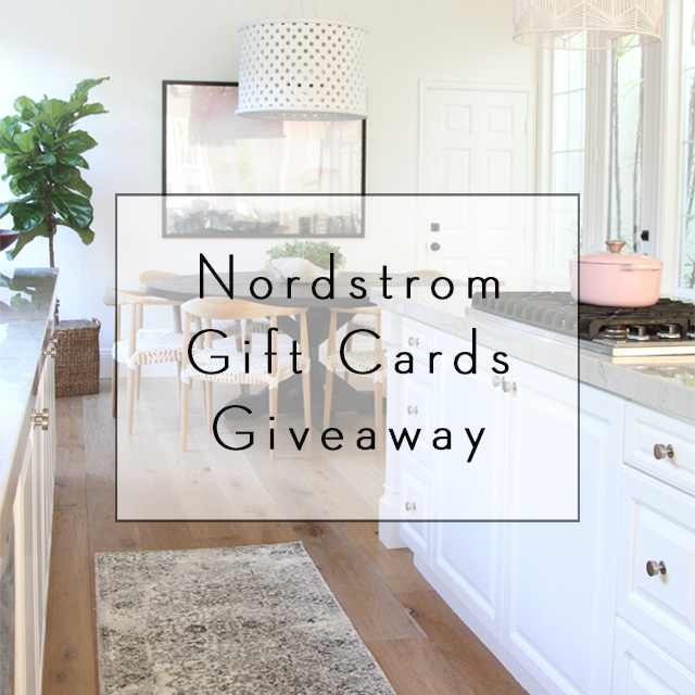 Nordstrom Gift Cards Giveaway