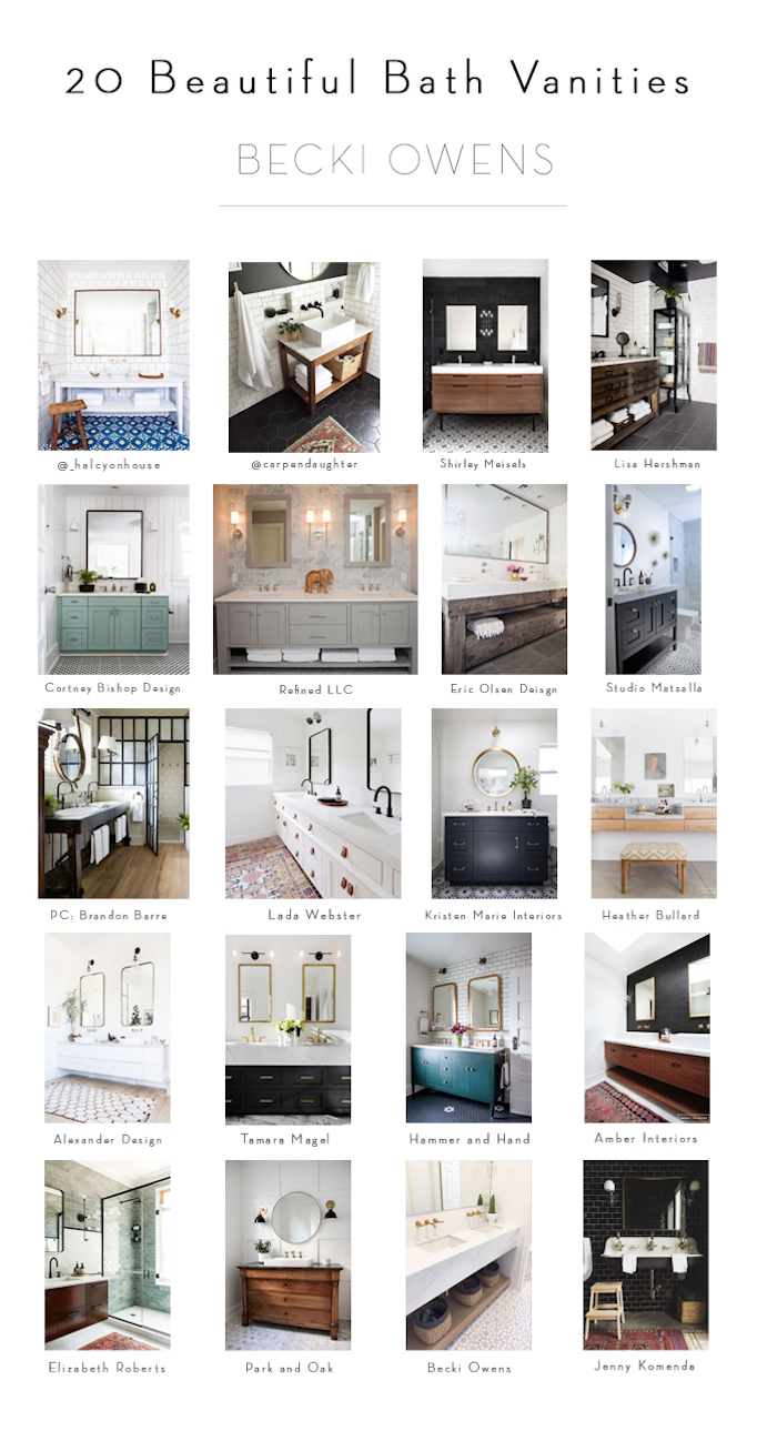 20 bathroom vanities