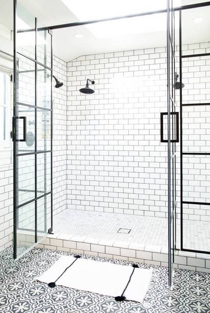BECKI OWENS Black and White Bathroom Tile