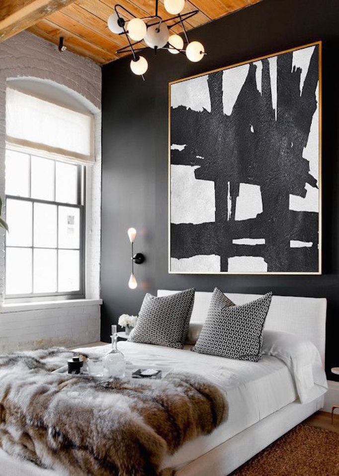 BECKI OWENS black and white bedroom