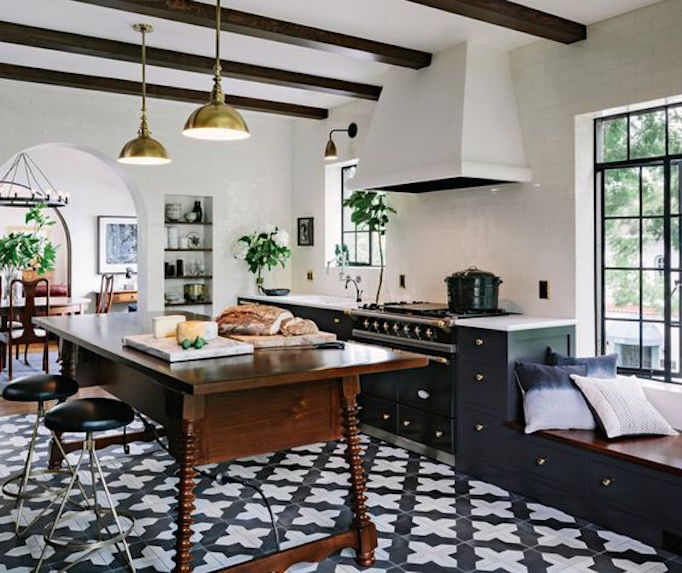BECKI OWENS black and white kitchen