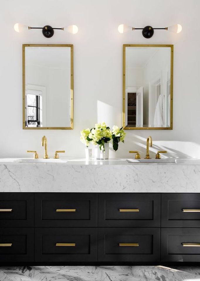 black+marble+brass+vanity