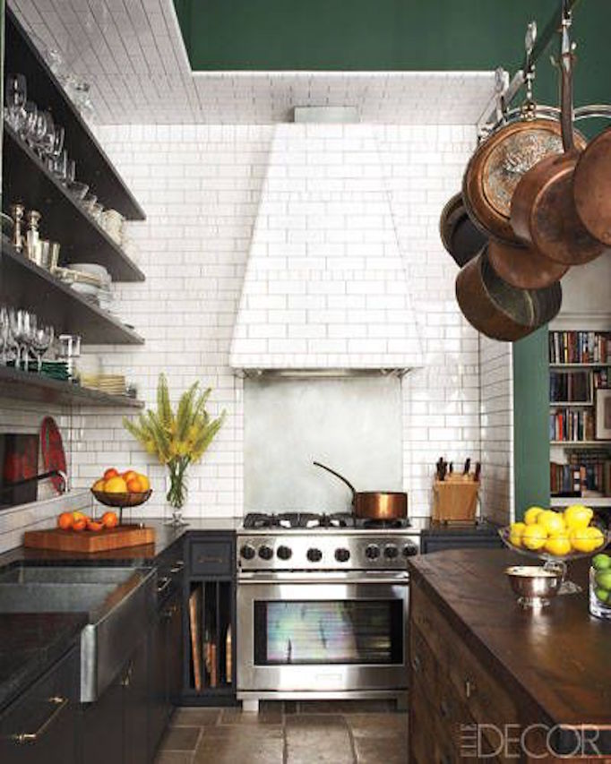 greenceilingkitchen