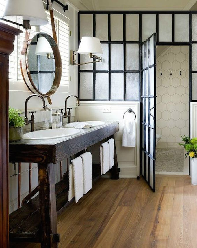 rustic+steel+bath