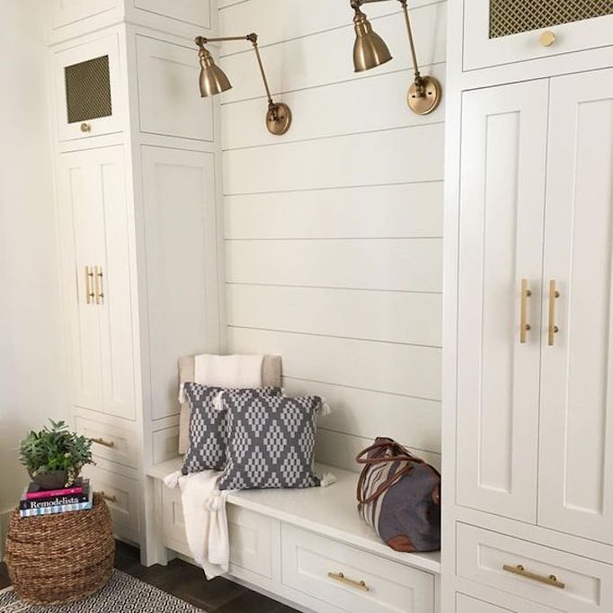 BECKI OWENS Shiplap Mudroom